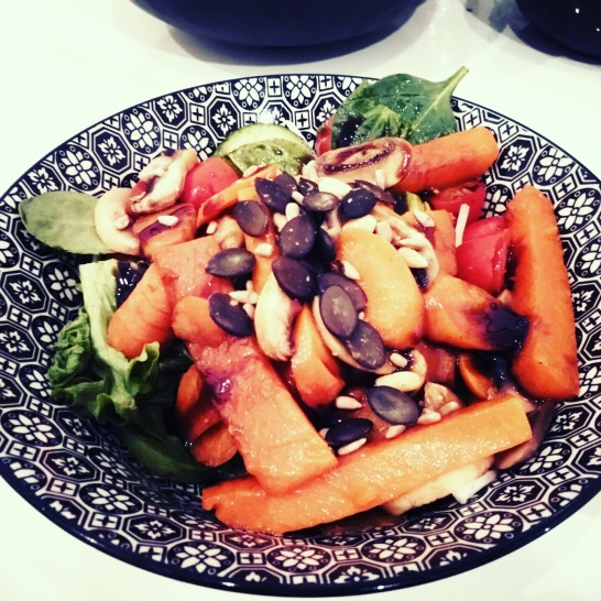 Vegan week: Sweetpotatoe- salad mmmmmhhhh