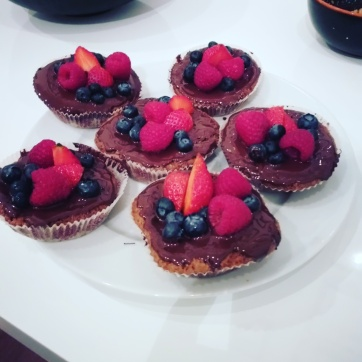 Vegan week: Tartelettes with berries